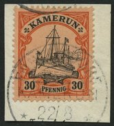 KAMERUN 12 BrfStk, FONTEMDORF Auf 30 Pf., Prachtbriefstück - Kolonie: Kamerun