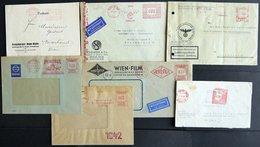 LOTS 1941-45, 17 Verschiedene Belege Mit Roten Freistemplern, Meist Prachterhaltung - Ohne Zuordnung