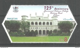 PAKISTAN 2017 STAMP 125TH ANNIVERSARY OF GOVERNMENT  ISLAMIA COLLEGE LAHORE MNH - Pakistan