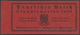 ZUSAMMENDRUCKE MH 42.1 **, 1936, Markenheftchen Olympische Spiele, Unbedruckt, Pracht, Mi. 200.- - Zusammendrucke