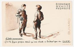 Buvard 21 X 13.5 Le Petit Ramoneur A La Figure Propre Grâce Au COKE  Illustrateur A. Folon (?) - Blotters