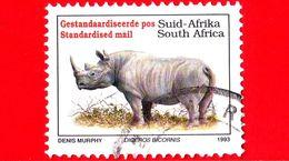 SUD AFRICA - Usato - 1993 - Animali - Rinoceronti - Diceros Bicornis - Standardised - Sud Africa (1961-...)