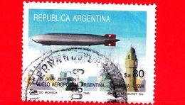 ARGENTINA - Usato -  1985 - Aerei - Primo Volo Argentina - Germania - L-Z 127 Graf Zeppelin - 80 - Argentina
