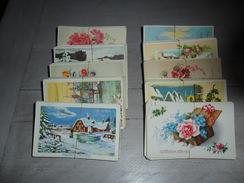 Grand Lot De 500 Cartes Postales Semi - Modernes Petit Format De Fantaisie Fleurs Paysages      500 Postkaarten Fantasie - Postkaarten