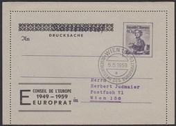 Österreich CEPT Drucksache Ganzsache SST 10 Jahre Europarat 1959  (20246 - Enteros Postales