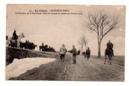 En Alsace - Montreux Vieux - Le Président Visite Nos Troupes-voir état - Non Classés
