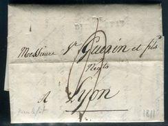 France - Lettre Avec Texte De Dieulefit Pour Lyon En 1811 - Ref D335 - Marcophilie (Lettres)