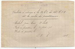 Retour De Permission  10.07.1918 Cachet Du 1er Bataillon E 46eme Regiment Terri D Infanterie 2 Eme Compagnie - 1914-18