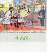 RARE BUVARD ILLUSTRATEUR JEAN BELLUS- PHARMACIE MEGABYL- LABORATOIRE LE BRUN -5 RUE DE LUBECK PARIS-  RESTAURANT CUISINE - Produits Pharmaceutiques