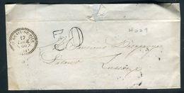 France - Oblitération De Saint Denis De Pile Sur Lettre Pour Lussac En 1860 - Ref D345 - Marcophilie (Lettres)