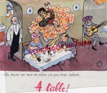 RARE BUVARD ILLUSTRATEUR JEAN BELLUS- PHARMACIE MEGABYL- LABORATOIRE LE BRUN -5 RUE DE LUBECK PARIS-  RESTAURANT CUISINE - Drogerie & Apotheke