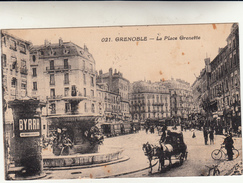 Grenoble, La Place Grenette, Post Card Used To Italy 1927 - Storia Postale