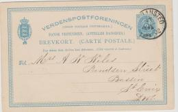 Dk-W021 / Christiansted 1902, 1 Cent Auf 2 Cent. - Denmark (West Indies)