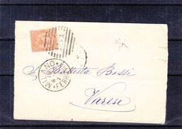 Italie - Lettre De 1889 - Oblit Milano - Exp Vers Varèse - - Poststempel