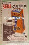 Buvard Il N'y A Qu'un Seul Café TOTAL RAVERDY - Coffee & Tea