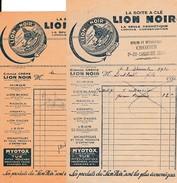 1934 - Ste FOY L'ARGENTIERE (69) - La Boite à Clé LION NOIR - CROZIER - Cycles Et Réparations - Documents Historiques