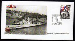 WWII, World War II,Britain At War.Cover Gibraltar 2005,1941 Malta - WW2