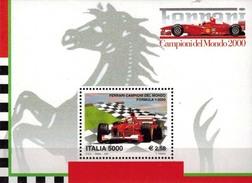 MVU-BK1-232 MINT ¤ ITALIA 2001 BLOCK ¤ FERRARI - Automobile