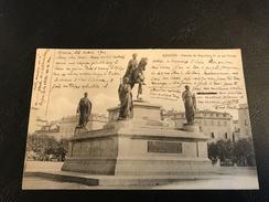 202 - AJACCIO Statues De Napoleon 1er Et Ses Freres - 1904 Timbrée - Ajaccio