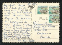 Jamaica 1974 Air Mail Postal Used Picture Postcard With Stamps - Jamaica (1962-...)