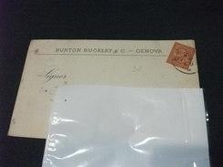 Cartolina Postale Pubblicitaria Commerciale BURTON BUCKLEY E C. GENOVA SPEDITA A SASSUOLO 28 LUGLIO 1887 - Genova