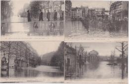 Bl - Lot De 12 Cpa Inondations De PARIS (Janvier 1910) (éditeur LL) - Inondations De 1910
