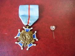 Médaille De L'ordre De La Courtoisie Française En Bronze + Son épinglette @ Voir La Description - Francia