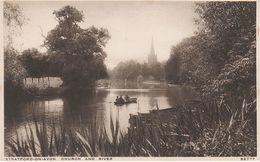 AK Stratford On Upon Avon Church And River A Warwick Bishopton Welford Dodwell Warwickshire United Kingdom England UK - Stratford Upon Avon