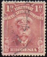 RHODESIA British South Africa Company - Scott #120a King George V 'Perf.: 15' (1) / Used Stamp - Great Britain (former Colonies & Protectorates)