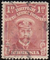 RHODESIA British South Africa Company - Scott #120a King George V 'Perf.: 15' (2) / Used Stamp - Great Britain (former Colonies & Protectorates)
