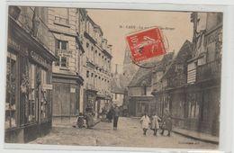 "1 Cpa Caen "" La Rue Porte Au Berger "" - Caen"