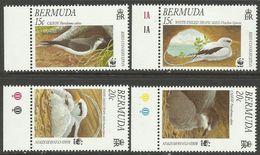 Bermuda 2001 Endangered Cahow Birds Set Of 4 MNH With WWF Panda Logo - W.W.F.