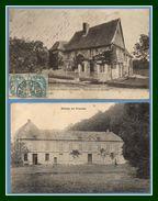 2 CPA Friardel (près  Orbec ) Abbaye Manoir (1CP Devant, Manque Verso Collé) - France