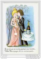 Menu Champagne Perrier Jouët, Signée Peynet - Menus