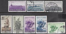 Turkey  1949   8 Diff Ships & UPUs Used   2016 Scott Value $6.90 - 1921-... République