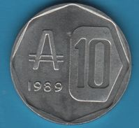 ARGENTINA 10 Australes 1989 KM# 102 Casa Del Acuerdo - Argentina