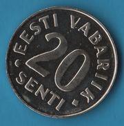 ESTONIA 20 SENTI 1999 - Estonie