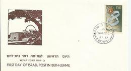 Primer Día Del Correo De Israel En Belem. - Correo Postal