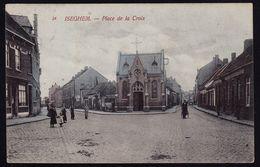 ISEGHEM - IZEGEM --- PLACE DE LA CROIX - Zeldzaam édit. Van Den Heuvel In Kleur - Izegem