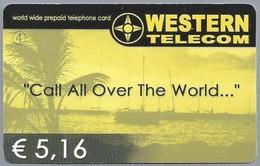 INTERNATIONAL PHONECARD - Call All Over The World... WESTERN TELECOM. World Wide Prepaid Telephone Card € 5,16. 2 Scans. - Telefoonkaarten