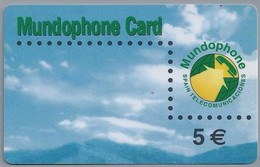 ES.- INTERNATIONAL PHONECARD. MUNDOPHONE CARD. SPAIN TELECOMUNICACIONES - 5 €.- 2 Scans. - Spanje
