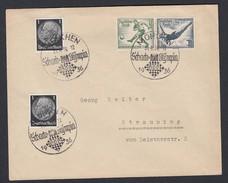 DR Brief Sonderstempel Schach Olympia 1936 München Nach Straubing K421 - Germany