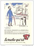 Buvard La Vache Qui Rit Les Découvertes N°6 Jean Charcot, Commandant Le Pourquoi Pas, Illustré L. M. Bayle - Dairy