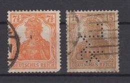 Deutsches Reich / Freimarken: Germania (V) /  MiNr.: 99, 100 - Deutschland
