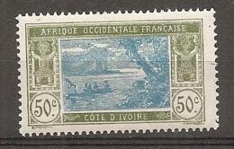 COTE IVOIRE - Yv. N°  69  *  50c,  Lagune  Cote  0,7 Euro  BE 2 Scans - Ivory Coast (1892-1944)