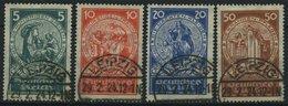 Dt. Reich 351-54 O, 1924, Nothilfe, Prachtsatz, Mi. 100.- - Gebraucht