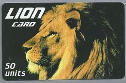 IT.- INTERNATIONAL PHONECARD. LION CARD 50 UNITS..- 2 Scans. - GSM-Kaarten, Aanvulling & Voorafbetaald