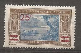 COTE IVOIRE - Yv. N°  73*  25c S 2f   Lagune  Cote 1,2 Euro  BE R 2 Scans - Ivory Coast (1892-1944)