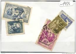 France  Années Completes (o) 1934 (5 Timbres) - ....-1939