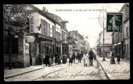 CPA ANCIENNE FRANCE- SAINT-MAUR (94)- LA RUE DU PONT DE CRETEIL- TRES BELLE ANIMATION GROS PLAN- COMMERCES - Saint Maur Des Fosses